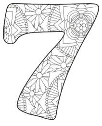 Free printable 7 - coloring stencil.abc alphabet colouring coloring letter coloring sheet with pattern for kids and adults stencil, thick pattern typeface bold download svg, png, pdf, jpg pattern.