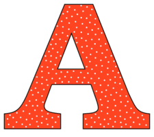 Free A - alphabet letter., font stencil, pattern, template, clipart, design, printable alphabet letters and numbers with dots, cricut, coloring page, monogram, a-z, vector, svg.