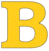 Free B - alphabet letter., font stencil, pattern, template, clipart, design, printable alphabet letters and numbers with dots, cricut, coloring page, monogram, a-z, vector, svg.