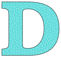 Free D - alphabet letter., font stencil, pattern, template, clipart, design, printable alphabet letters and numbers with dots, cricut, coloring page, monogram, a-z, vector, svg.