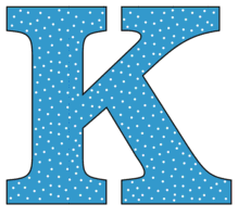 Free K - alphabet letter., font stencil, pattern, template, clipart, design, printable alphabet letters and numbers with dots, cricut, coloring page, monogram, a-z, vector, svg.