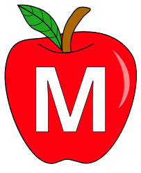 Free M  - apple pattern., red apple alphabet clipart, letter font stencil, letter font, numbers, pattern, template, clipart, printable alphabet letters and numbers, DIY, homemade, back to school, bulletin board, cricut, silhouette, coloring page, vector, svg.