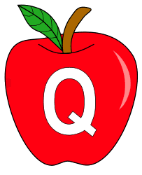 Free Q  - apple clipart., red apple alphabet clipart, letter font stencil, letter font, numbers, pattern, template, clipart, printable alphabet letters and numbers, DIY, homemade, back to school, bulletin board, cricut, silhouette, coloring page, vector, svg.