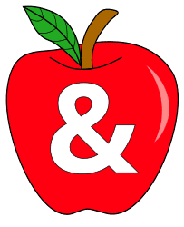 Free Ampersand., red apple alphabet clipart, letter font stencil, letter font, numbers, pattern, template, clipart, printable alphabet letters and numbers, DIY, homemade, back to school, bulletin board, cricut, silhouette, coloring page, vector, svg.