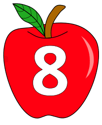Free 8  - apple stencil., red apple alphabet clipart, letter font stencil, letter font, numbers, pattern, template, clipart, printable alphabet letters and numbers, DIY, homemade, back to school, bulletin board, cricut, silhouette, coloring page, vector, svg.