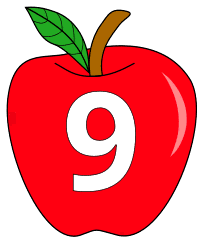 Free 9 - apple stencil., red apple alphabet clipart, letter font stencil, letter font, numbers, pattern, template, clipart, printable alphabet letters and numbers, DIY, homemade, back to school, bulletin board, cricut, silhouette, coloring page, vector, svg.