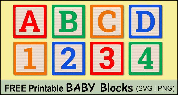 Baby Blocks Alphabet (Free Printable Letters & Numbers)