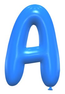 A - Balloon font. Free printable balloon font, lettering, alphabet, clipart, downloadable, letters and numbers, happy birthday, generator, 3d.
