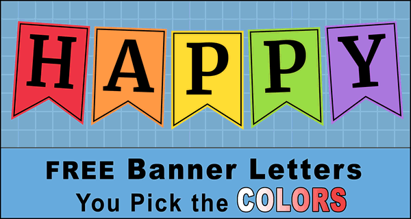 Banner Pennant Letters (Bulletin Boards & Happy Birthday Signs)