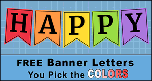 Banner Pennant Letters