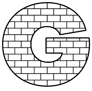 Free G - brick font., brick letter font stencil, letter font, numbers, pattern, template, clipart, printable alphabet letters and numbers, DIY, homemade, back to school, bulletin board, cricut, silhouette, coloring page, vector, svg.