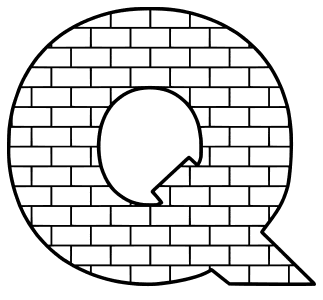 Free Q  - brick letter., brick letter font stencil, letter font, numbers, pattern, template, clipart, printable alphabet letters and numbers, DIY, homemade, back to school, bulletin board, cricut, silhouette, coloring page, vector, svg.
