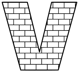 Free V  - brick letter., brick letter font stencil, letter font, numbers, pattern, template, clipart, printable alphabet letters and numbers, DIY, homemade, back to school, bulletin board, cricut, silhouette, coloring page, vector, svg.