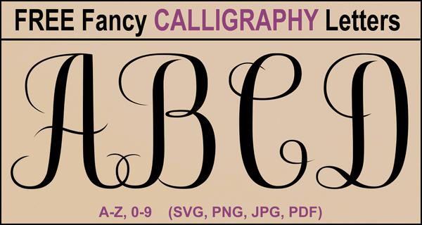 Calligraphy Alphabet – Printable A-Z Cursive Capital Letters