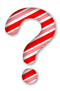 Question mark. 3D Christmas, font, free, peppermint, stripes, candy cane, printable alphabet, letter, number, ornament, holiday, decoration, pattern, template, clipart design, vector, svg.