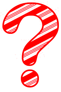 Free Question mark. Christmas, font, peppermint, stripes, candy cane, printable alphabet letters and numbers, ornament, decoration, pattern, template, clipart design, vector, svg.