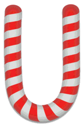 U - Candy cane clipart. Free printable candy cane stripes, font, alphabet letters and numbers, christmas, clipart, downloadable.