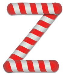 Z - Candy cane clipart. Free printable candy cane stripes, font, alphabet letters and numbers, christmas, clipart, downloadable.