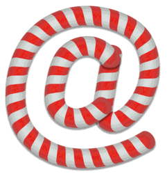 At sign stripes. Free printable candy cane stripes, font, alphabet letters and numbers, christmas, clipart, downloadable.