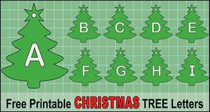 Christmas Tree Font (A-Z)
