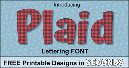Colorful Fun Font (Printable Buffalo Plaid Lettering)