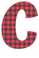 Free C - colorful font. plaid font, colorful font, fun font, lettering, stencil, alphabet, letter, number, font, pattern, template, clipart, printable, alphabet, DIY crafts, bulletin board, teachers, vector, svg.
