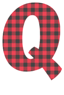 Free Q - fun font. plaid font, colorful font, fun font, lettering, stencil, alphabet, letter, number, font, pattern, template, clipart, printable, alphabet, DIY crafts, bulletin board, teachers, vector, svg.