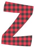 Free Z - printable letter. plaid font, colorful font, fun font, lettering, stencil, alphabet, letter, number, font, pattern, template, clipart, printable, alphabet, DIY crafts, bulletin board, teachers, vector, svg.