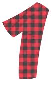 Free 1 - colorful letters plaid font, colorful font, fun font, lettering, stencil, alphabet, letter, number, font, pattern, template, clipart, printable, alphabet, DIY crafts, bulletin board, teachers, vector, svg.