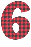 Free 6 - colorful lettering. plaid font, colorful font, fun font, lettering, stencil, alphabet, letter, number, font, pattern, template, clipart, printable, alphabet, DIY crafts, bulletin board, teachers, vector, svg.