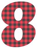 Free 8 - colorful lettering. plaid font, colorful font, fun font, lettering, stencil, alphabet, letter, number, font, pattern, template, clipart, printable, alphabet, DIY crafts, bulletin board, teachers, vector, svg.