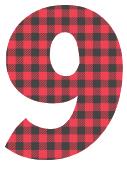 Free 9 - colorful lettering. plaid font, colorful font, fun font, lettering, stencil, alphabet, letter, number, font, pattern, template, clipart, printable, alphabet, DIY crafts, bulletin board, teachers, vector, svg.
