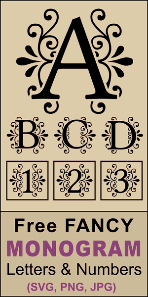 FREE printable DIY decorative alphabet letters designs.  Use these font letters, numbers, and alphabet patterns for weddings, monograms, anniversaries, decorations, crafts, etc.