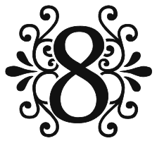 Free 8 number. Decorative ornamental letter, stencil, pattern, template, clipart, font, printable alphabet letters and numbers, wedding, anniversary, monogram, signs, cricut, silhouette, vector, svg.