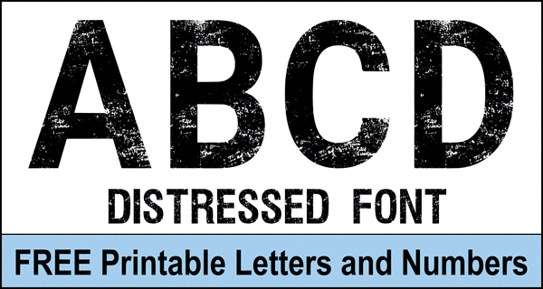 Distressed Letters (Free Eroded Block Bold Distressed Font)