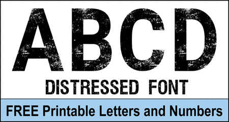 FREE printable distressed letters, stencil, patterns, distressed font, eroded, destroyed, block, bold, numbers, and alphabet patterns. This font style lettering is great for signs, t-shirts, bulletin boards, decorations, etc.
