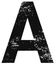 Free A - distressed. distressed letter font stencil, eroded, destroyed, block, bold, number, pattern, template, clipart, printable alphabet letters, t-shirt, DIY, homemade, back to school, bulletin board, cricut, silhouette, vector, svg.