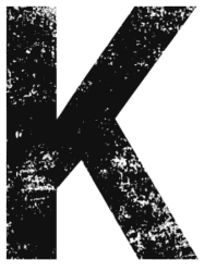 Free K  - distressed. distressed letter font stencil, eroded, destroyed, block, bold, number, pattern, template, clipart, printable alphabet letters, t-shirt, DIY, homemade, back to school, bulletin board, cricut, silhouette, vector, svg.