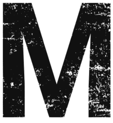 Free M  - distressed. distressed letter font stencil, eroded, destroyed, block, bold, number, pattern, template, clipart, printable alphabet letters, t-shirt, DIY, homemade, back to school, bulletin board, cricut, silhouette, vector, svg.