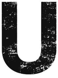 Free U  - distressed. distressed letter font stencil, eroded, destroyed, block, bold, number, pattern, template, clipart, printable alphabet letters, t-shirt, DIY, homemade, back to school, bulletin board, cricut, silhouette, vector, svg.