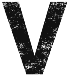 Free V  - distressed. distressed letter font stencil, eroded, destroyed, block, bold, number, pattern, template, clipart, printable alphabet letters, t-shirt, DIY, homemade, back to school, bulletin board, cricut, silhouette, vector, svg.