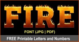 Fire flame clipart font