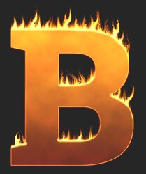 B - Flaming letter. Free printable fire font, flames, burning, roaring, clipart, downloadable, flaming letters and numbers.