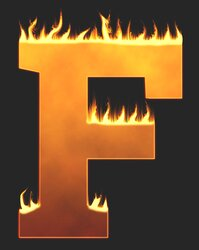 F - Flaming letter. Free printable fire font, flames, burning, roaring, clipart, downloadable, flaming letters and numbers.