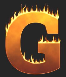 G - Flaming letter. Free printable fire font, flames, burning, roaring, clipart, downloadable, flaming letters and numbers.