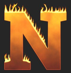 N - Flaming letter. Free printable fire font, flames, burning, roaring, clipart, downloadable, flaming letters and numbers.