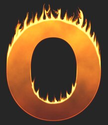 O - Flaming letter. Free printable fire font, flames, burning, roaring, clipart, downloadable, flaming letters and numbers.