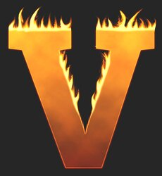 V - Flaming letter. Free printable fire font, flames, burning, roaring, clipart, downloadable, flaming letters and numbers.