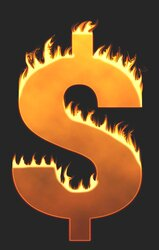 Dollar sign flames. Free printable fire font, flames, burning, roaring, clipart, downloadable, flaming letters and numbers.