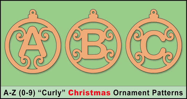 Homemade Christmas Tree Ornaments (Letter Stencils and Patterns)